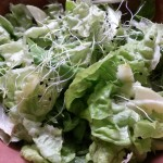 Mini Brunch: Salată dulce-sărată-acrișoară cu măr, kala namak și germeni de ceapă