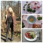 Omletă cu spanac şi gorgonzola (plus poveşti cu…peşti)