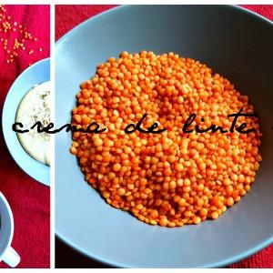 Supă - cremă de linte roșie, rapidă și sățioasă